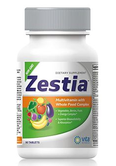 Zestia Multivitamin with Whole Food Fruit and Vegetable Complex with Digestive Enzymes Probiotics and Super Foods 90 ct * Want additional info? Click on the image.