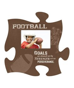 P. Graham Dunn Football Puzzle Piece Photo Frame   zulily
