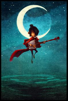 A promotional image for Kubo and the Two Strings - LAIKA STUDIOS.
