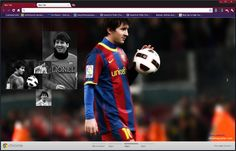 Lionel Messi Google Chrome Theme