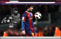 Lionel Messi Google Chrome Theme