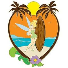 Tinker Bell pin (Surf Scene series) from Fantasies Come True