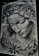 Tattoo Design Drawings, Tattoo Sketches, Tattoo Designs, Tattoo Oma, Tatoo Art, Mago Tattoo, Religion Tattoos, Tattoo Bauch, Chicano Art Tattoos