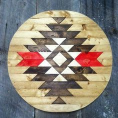 Pieced Multi-Color Wood Design Moonshine and Wool Wooden Wall Art, Diy Wall Art, Wood Art, Native Art, Native American Art, Native Indian, Wood Projects, Woodworking Projects, Surf Decor