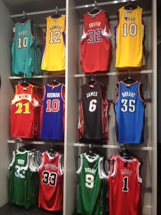 i am a jersery collector... even before me and hubby gets married...since my hubby is a good basketball player,  i always have a jersey like his. same number and same name at the back...