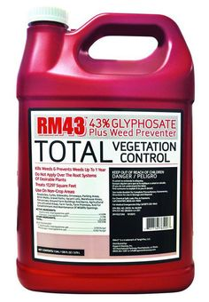 RM43 1 Gallon Glyphosate Herbicide Weed Killer Control Preventer Concentrate #RM43