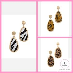 Animal Pattern Teardrop Drop Earring #NewArrivals #EARRINGS #JEWELRY #MakeAnOffer #lifestyle #ootd #womensfashion #Chic #outfitoftheday #fashionblogger Lady L, Beauty Boutique, Outfit Of The Day, Ootd, Pendant Necklace, Drop Earrings, Animal, Lifestyle, Chic