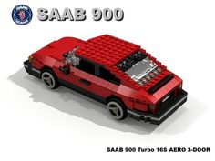 A Lego Saab 900