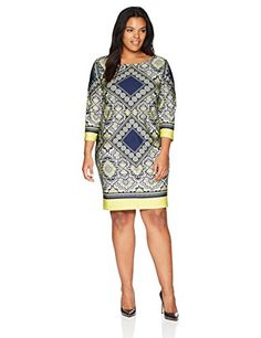 a71102f6679 The perfect Tiana B Women s Plus Size Boat Neck Shift Dress online.   40.79