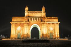 Gateway of India  -- The Gateway of India is a monument built during the British Raj in Mumbai, India. It is located on the waterfront in the Apollo Bunder area in South Mumbai and overlooks the Arabian Sea. The structure is a basalt arch, 26 metres high. ------- Address: Mumbai, Maharashtra