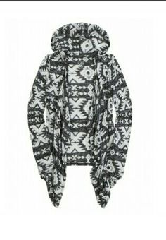 Black and white hooded waterfall cardigan from Justice...i need this