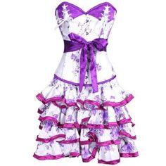Violet Outburst Corset Dress