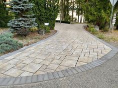 Kropf, Long Driveways, Backyard Ideas, Sidewalk, New Homes, Trees, Instagram Posts, House, Courtyards