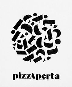 pizzAperta #typography by http://www.frostcollective.com.au