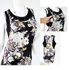 LILY Nursing Top / Breastfeeding Top NEW / Nursing Singlet/ Floral Pattern Nursing Tops/ Maternity Clothes