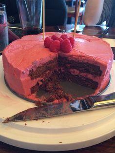 Delicious raspberry chocolate cake