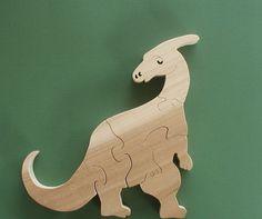 Parasaurolophus Wood Puzzle Cut On Scroll Saw by DukesScrollSaw