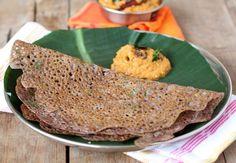 Learn how to make Ragi dosa, an easy, healthy breakfast dish. Ragi dosa is made with ragi flour and semolina and goes well with any chutney, podi or sambar.
