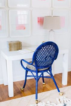 IKEA Hacks and DIY Hack Ideas for Furniture Projects  and Home Decor from IKEA -  IKEA  Hack Cobalt Office Chair - Creative IKEA Hack Tutorials for DIY Platform Bed, Desk, Vanity, Dresser, Coffee Table, Storage and Kitchen Decor http://diyjoy.com/diy-ikea-hacks