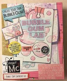 Project Mc2 Bubble Gum Lab Bubble Gum Chemistry Kit Make Your Own Bubble Gum  | eBay