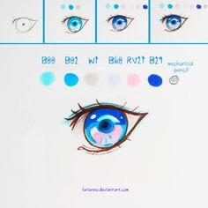 +Mini Manga Eye Tutorial+ by larienne