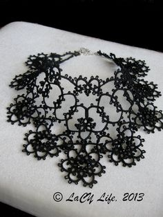 Black Tatted Lace Collar Necklace by LacyLife on Etsy