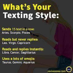 zodiac signs and their texting style, aries, taurus, gemini, cancer, leo, virgo, libra, scorpio, sagittarius, capricorn, aquarius, pisces