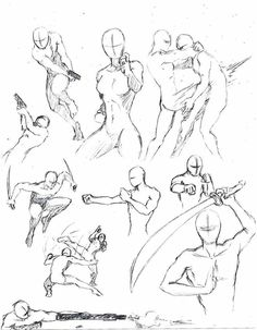 Poses. Action