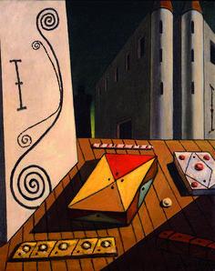 Le opere di Giorgio de Chirico Giorgio de Chirico Il segreto del castello, 1970 ca. Olio su tela, cm 50x40