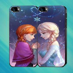 frozen anna elsa disney love couple  Custom Case by Mendemdupo, $31.99