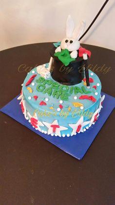 Conejito/sombrero/mago/cake