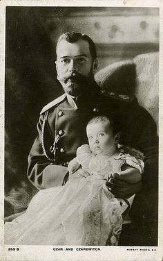 Tsar Nicholas II with his son, Alexei