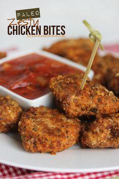 Paleo Zesty Chicken Bites from LexisCleanKitchen.com
