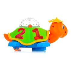 Toysery Light Up Turtle Toy with Lights and Sound for Baby and Toddler Battery Operated Classic glow turtle toy is harmless product. We have a professional team to design and produce these toys. Turtle is one of the essential toys for each baby's growth process. Small turtle with a small hat, it look very cute. Newborn toys, suitable for1 -3 years old Bumps with objects and turns another way. ON/OFF switch for controlling the tortoise. Specifications: -Material: Plasti