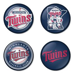 "Minnesota Twins MLB 1.75"" Badges Pinbacks, Mirror, Magnet, Bottle Opener Keychain http://www.amazon.com/gp/product/B00K450ITO"