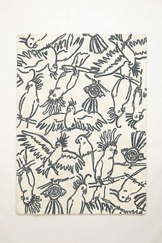 Cockatoo Blueprint Rug