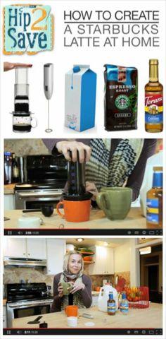 Homemade Starbucks Coffee! {video} via Hip2Save: It's Not Your Grandma's Coupon Site!