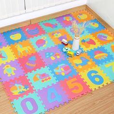 Multi Color bébé éveil Puzzle Tapis Doux en Mousse EVA Kids Play Tapis Maison Plancher