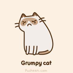 Grumpy Cat Pusheen OMG ahhhhhhhhhhhhhhhhh grumpy cat and pusheen in one!!!!!!!!!!!!!!!!!!!!!!!!!!