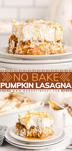 This make-ahead recipe is a must on Thanksgiving! Pumpkin Lasagna gets better the longer it refrigerates. With layers of ginger snap crust, mousse, pudding, and a whipped topping, this easy no-bake dessert is a show-stopper! Taste all your favorite flavors in one bite!