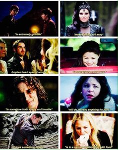 Once Upon a Time character summaries. Henry and Pan. The Evil Queen Captain Hook. Belle. Rumplestiltskin. Snow White. Prince Charming. Emma