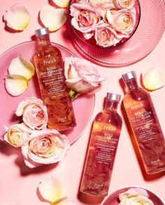 Give your skin a splash of petal softness with our Rose Deep Hydration Facial Toner. It's packed with: 🌹Rose fruit extract: to tone skin… Natural Skin Care, Natural Beauty, Lotion, Flat Lay Photography, Product Photography, Perfume, Facial Toner, Good Skin, Skin Care Tips