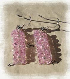 """Boucle d'Oreilles """"Rose des sables""""  Pattern:  http://www.potion-magique.fr/wa_files/BO_20Rose_20des_20sables.pdf"""