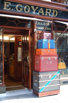 Goyard,  Paris. The oldest and most beautiful luggage in the world.