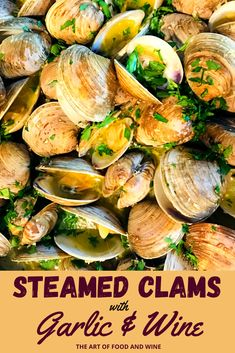 Clam Recipes, Wine Recipes, Seafood Recipes, Cooking Recipes, Garlic White Wine Sauce, White Wine Butter Sauce, Garlic Butter, Garlic Bread