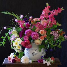"""An arrangement I did inspired by Renoir's """"Gladioli in a Vase"""", and blogged about it. (Link in profile) #tulipina"""