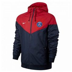 Veste Coupe-vent Nike Paris Saint-germain Authentic Windrunner - - Taille : S; Nike Windrunner, Windrunner Jacket, T Shirt Polo, Sweat Shirt, Hoodie Outfit, Red Hoodie, Saint Germain, Paris Saint, Windbreaker Jacket