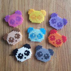 Pandas perler beads by CraftsByCass1995