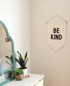 Be Kind Banner | Secret Holiday & Co on Etsy