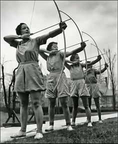 Archers at Spelman College. Atlanta, Georgia, 1937.